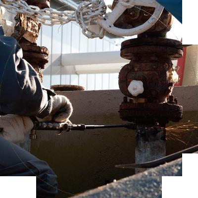 貯水槽のメンテナンス